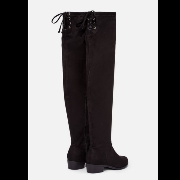 JustFab Shoes - JUST FAB - ABBIE Faux Black Suede Boot (7.5)